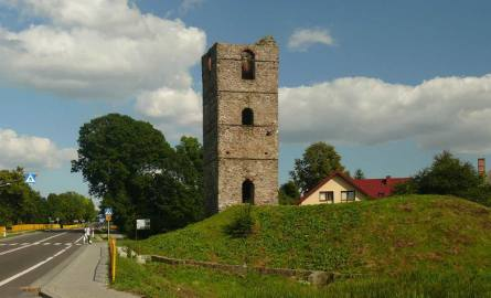 Ruiny średniowiecznej w Stołpiu wieży zagrożone - przez wodę i ptaki