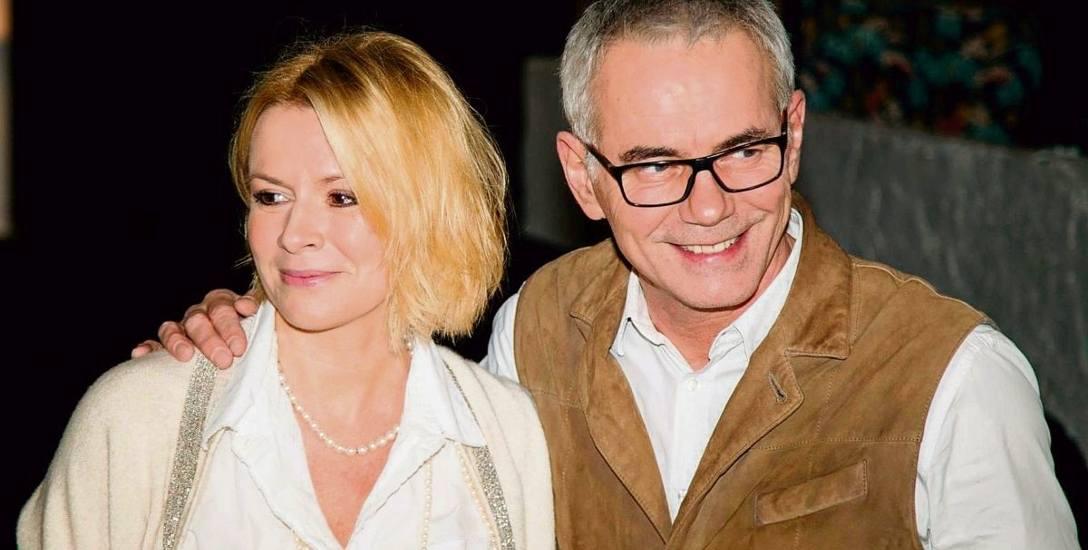 Robert Janowski z żoną Moniką.