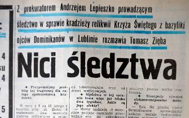 """O kradzieży pisał 11 lutego 1991 r. na pierwszej stronie """"Kurier Lubelski"""". Przez następne dni temat nie schodził z czołówek ogólnopolskich"""