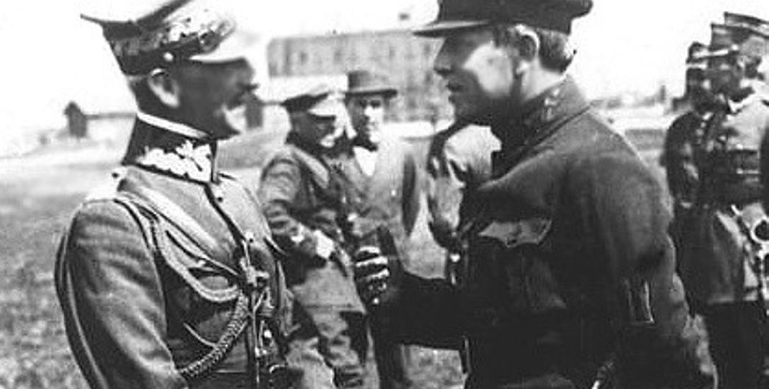 Symon Petlura i gen. Antoni Listowski wśród żołnierzy polskich – wyprawa kijowska, kwiecień 1920