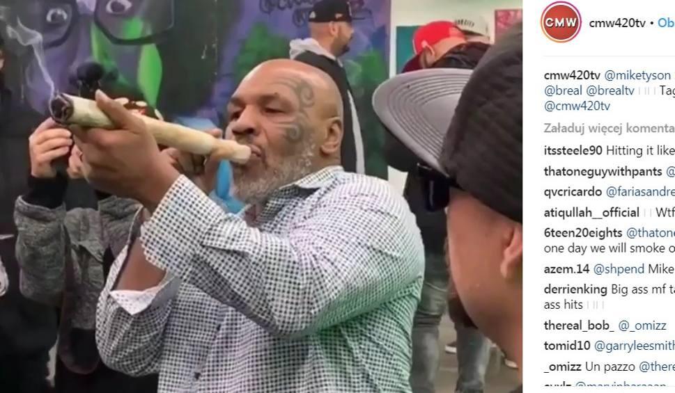 Film do artykułu: Mike Tyson przyłapany z GIGANTYCZNYM jointem [WIDEO]