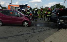 Kwielice: Zderzenie dwóch samochodów [Zdjęcia]