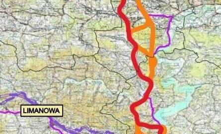 Łososina Dolna: Skorygowano warianty przebiegu Sądeczanki. Będzie tunel pod Justem?