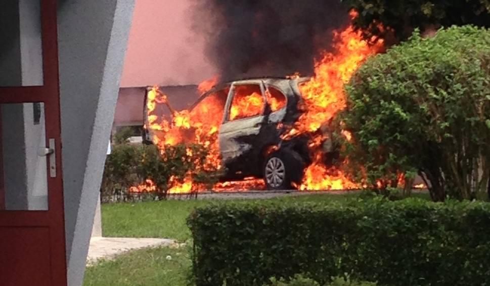 Film do artykułu: Groźny pożar samochodu w Żaganiu [WIDEO, ZDJĘCIA]