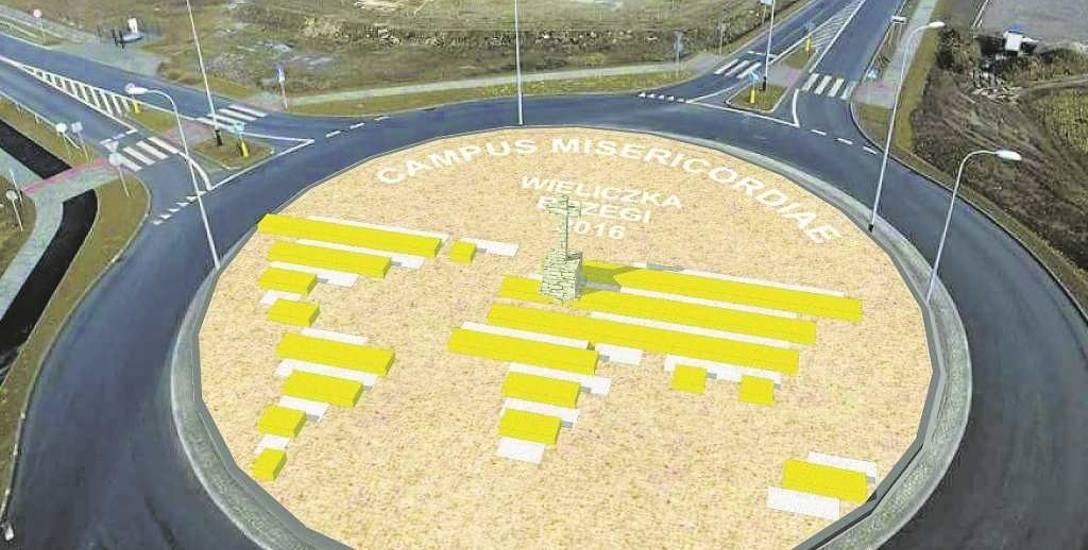 Tak będzie wyglądać instalacja na rondzie ŚDM w Brzegach. Pozostanie ona tam już na stałe
