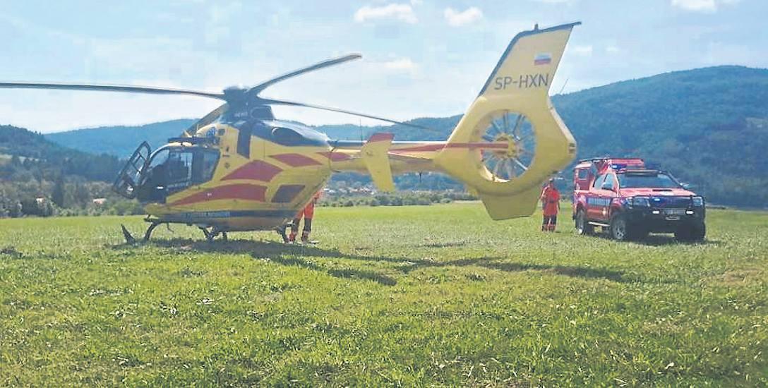 Przy poważnych wypadkach z udziałem paralotniarzy potrzebna była pomoc śmigłowca LPR