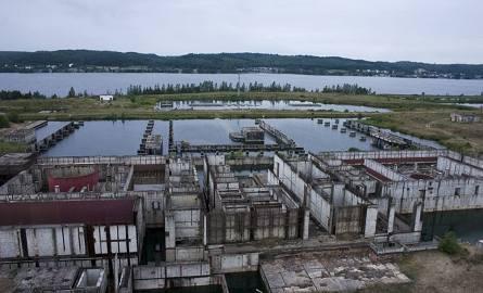 Nieukończony główny budynek Elektrowni Jądrowej w Żarnowcu.Polska elektrownia jądrowa budowana była w latach 1982–1989 w miejscu zlikwidowanej wsi Kartoszyno