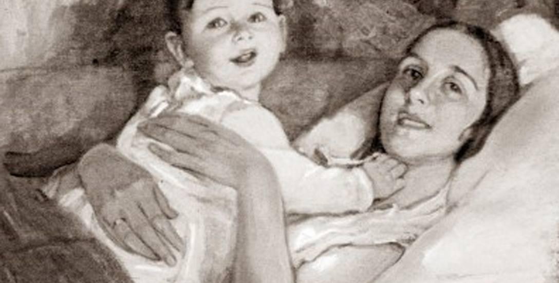 Na przełomie wieków Julia Wolfthorn staje się poszukiwaną portrecistką. Chętnie maluje portrety rodzin, dzieci. Na zdjęciu obraz: Młoda mama