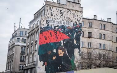 """Warszawa, mural na Pradze, """"Martwa dziecka nie urodzę"""" - Marta Frej"""