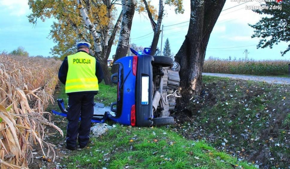 Film do artykułu: Wypadki w Jastrzębiu: seicento uderzyło w drzewo ZDJĘCIA