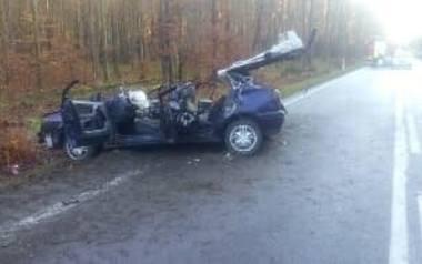 Miejsce wypadku w Maleniskach.