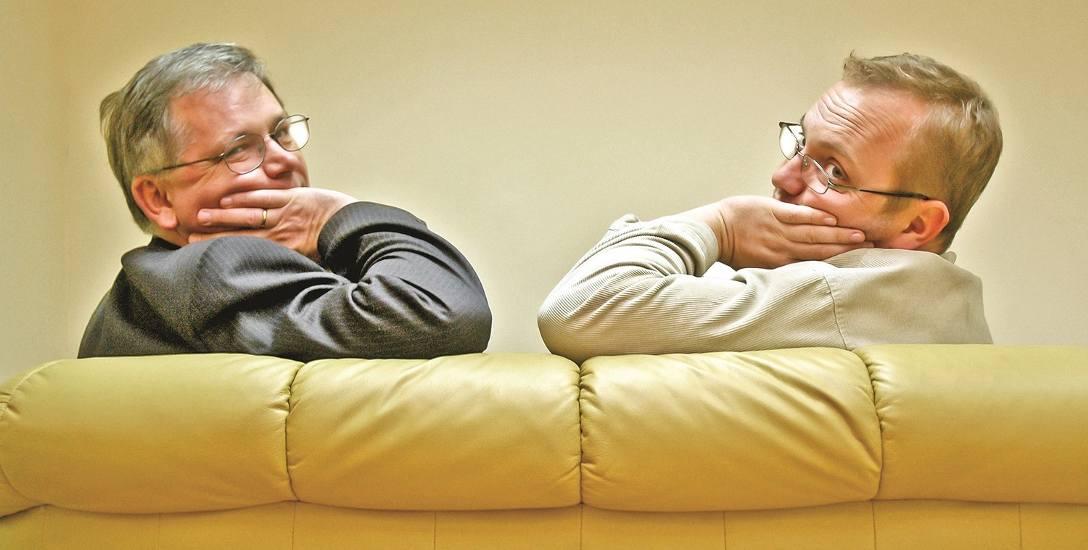Prof. Roman Bäcker i Adam Willma dyskutują o sytuacji politycznej w kraju i na świecie.