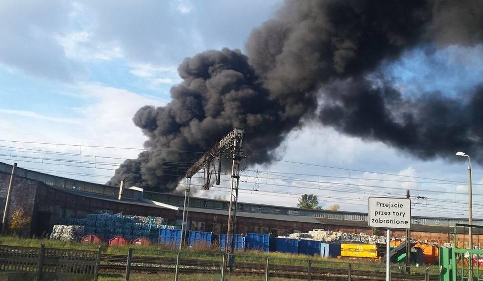 Film do artykułu: Pożar sortowni śmieci w Sędziszowie! (WIDEO, ZDJĘCIA)