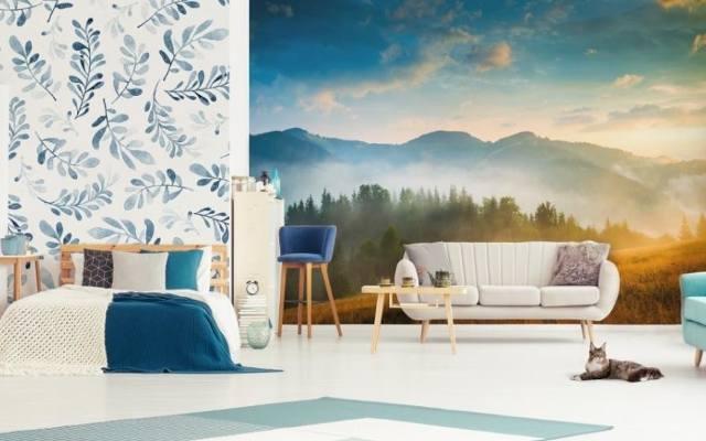 Fototapeta w sypialni lub salonie może przenosić nas każdego dnia w wymarzony krajobraz.