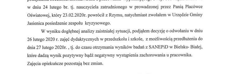 Koronawirus w Polsce? Szkoła w Mazańcowicach zamknięta. Chora nauczycielka wróciła z Włoch i z podejrzeniem koronawirusa prowadziła lekcje