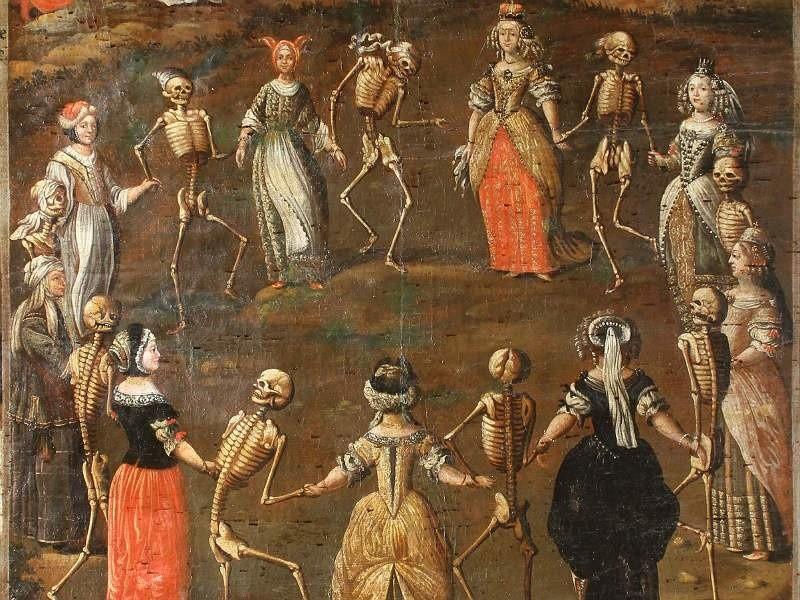 """Wobec śmierci wszyscyśmy równi, zdaje się mówić płótno """"Danse macabre"""", które można właśnie oglądać na wystawie """"Bernardyni - zgodnie"""