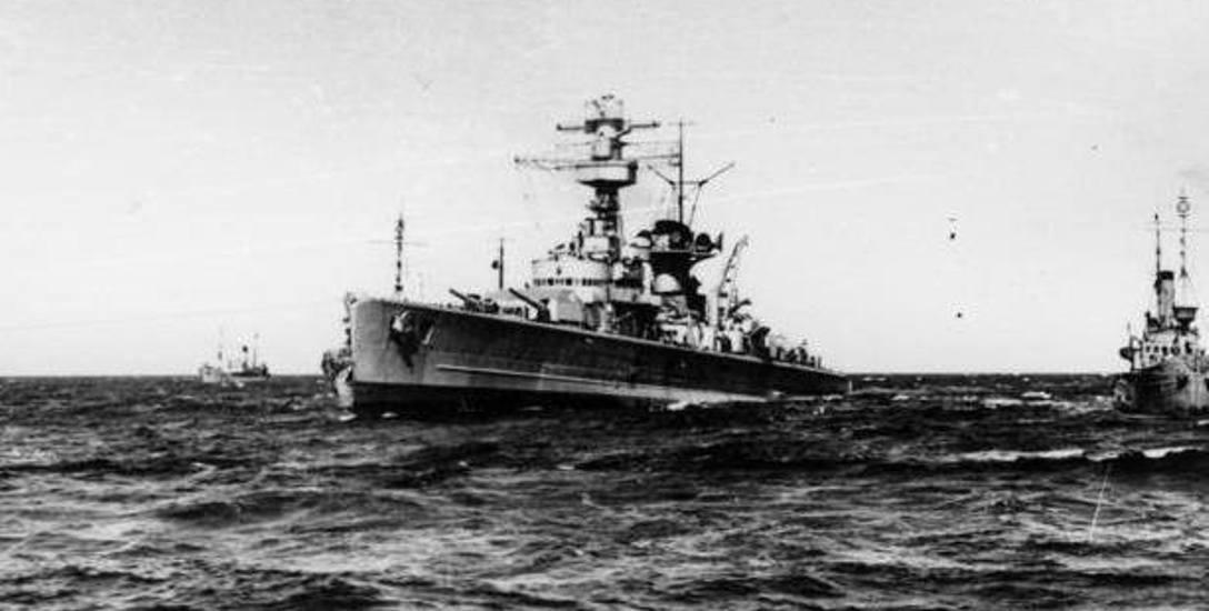 """Krążownik """"Lützow"""", który zakończył swój morski żywot na Bałtyku"""