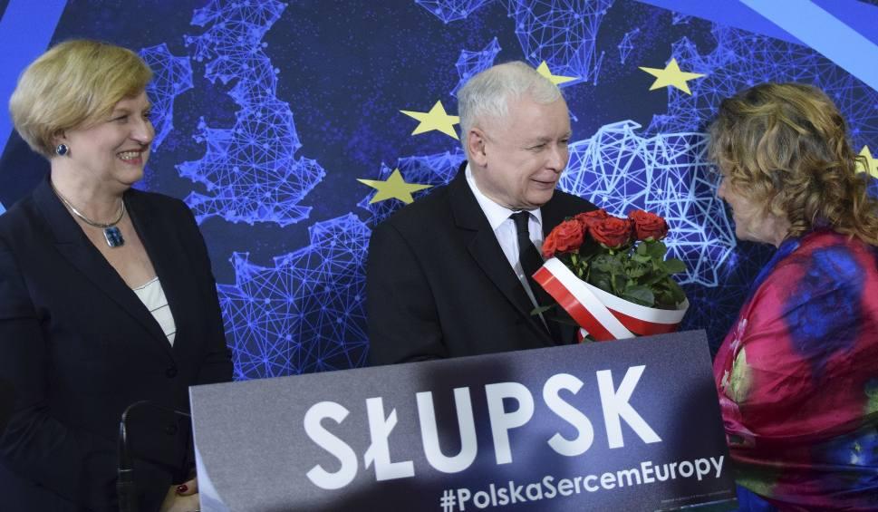 Film do artykułu: Jarosław Kaczyński w Słupsku. Bez Środkowopomorskiego, za to z posłanką Anną Fotygą