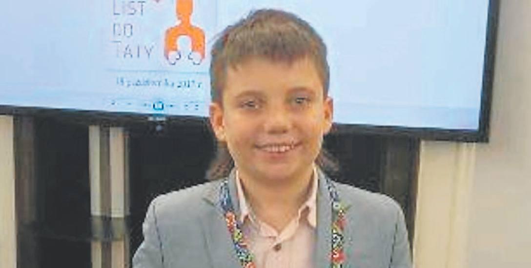 Michał Negowski  jest uczniem 5 klasy. Ma wiele pasji i talentów