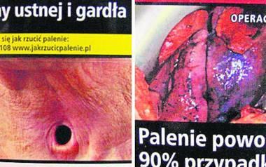 Na nowych opakowaniach papierosów drastyczne zdjęcia i ostrzeżenia tekstowe muszą zajmować aż 65 proc. powierzchni.