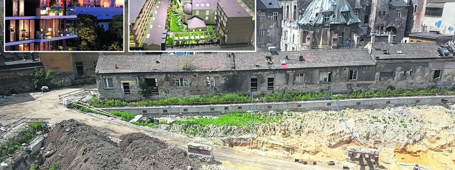 Inwestycja przy ul. Stradomskiej obejmuje adaptację kamienicy z dawnym kościołem na hotel i budowę z tyłu apartamentowca