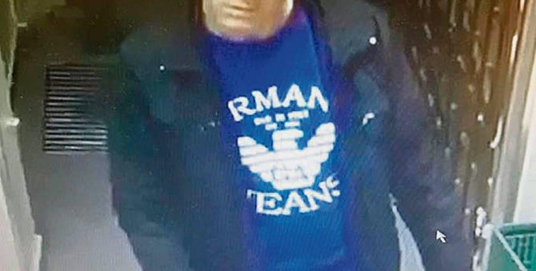 Domniemany złodziej portfela z mieszkania przy ulicy Powstańców Warszawy przyłapany przez monitoring.