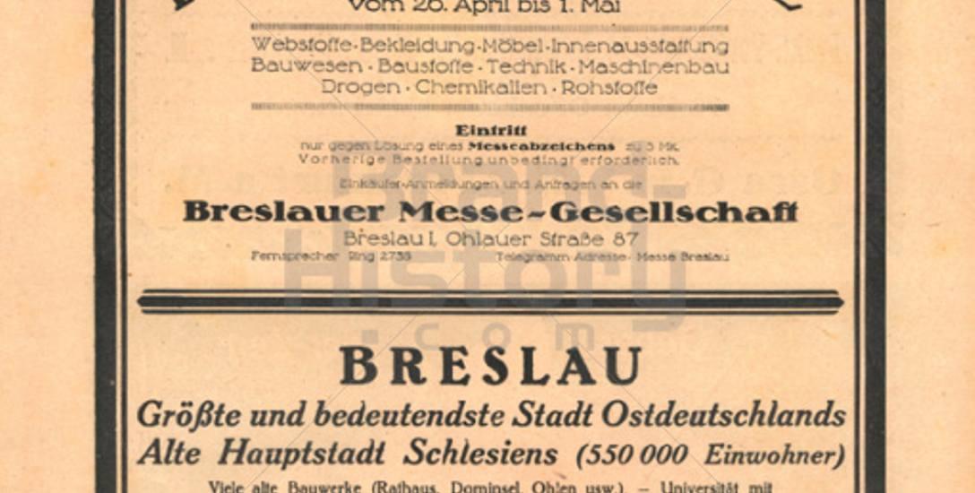 """Targi Breslauer Messe odbiły się szerokim echem w mediach, także w czasopiśmie """"Die Woche"""""""