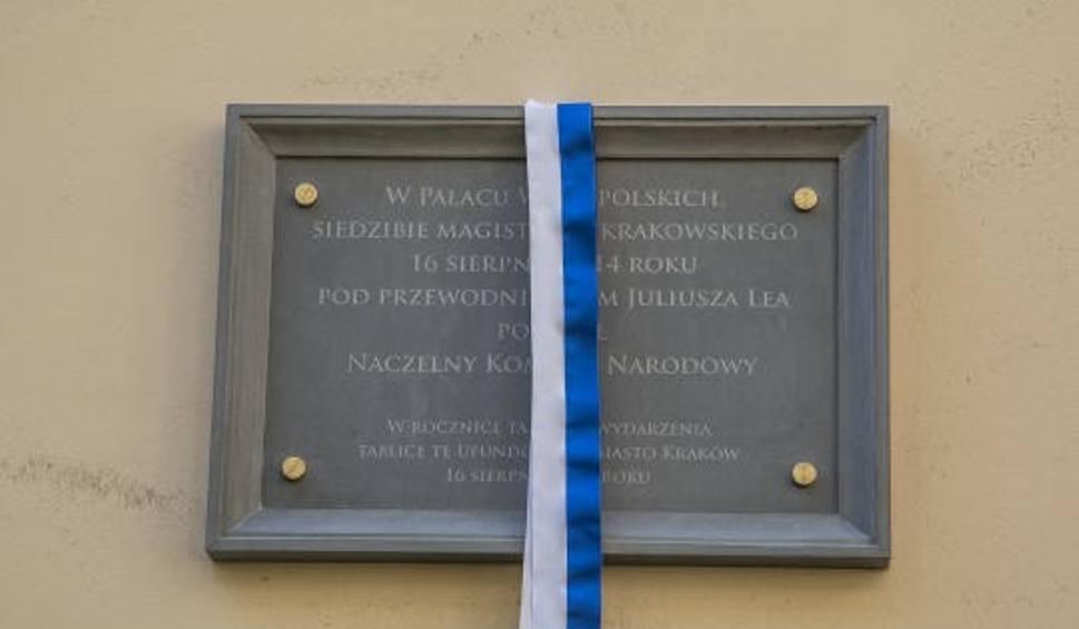 Film do artykułu: Kraków. Odsłonięto tablicę upamiętniającą powołanie Naczelnego Komitetu Narodowego