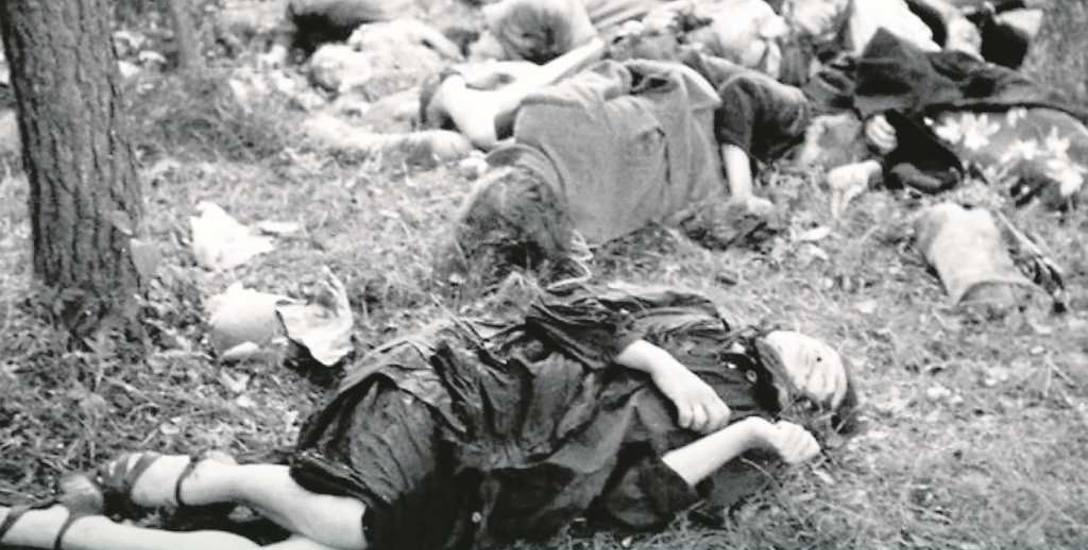 Zwłoki Polaków zamordowanych przez UPA na Wołyniu.