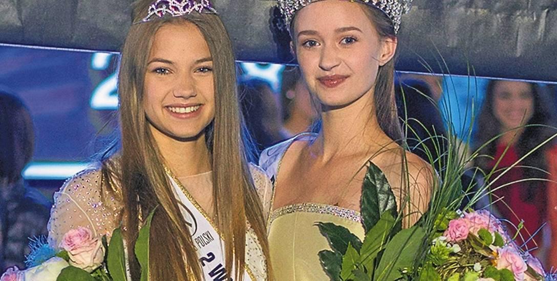 Zuzanna Poteraj (z prawej) i Wiktoria Wiśniewska (z lewej) na Gali Miss Polski Nastolatek 2018 w Kozienicach.