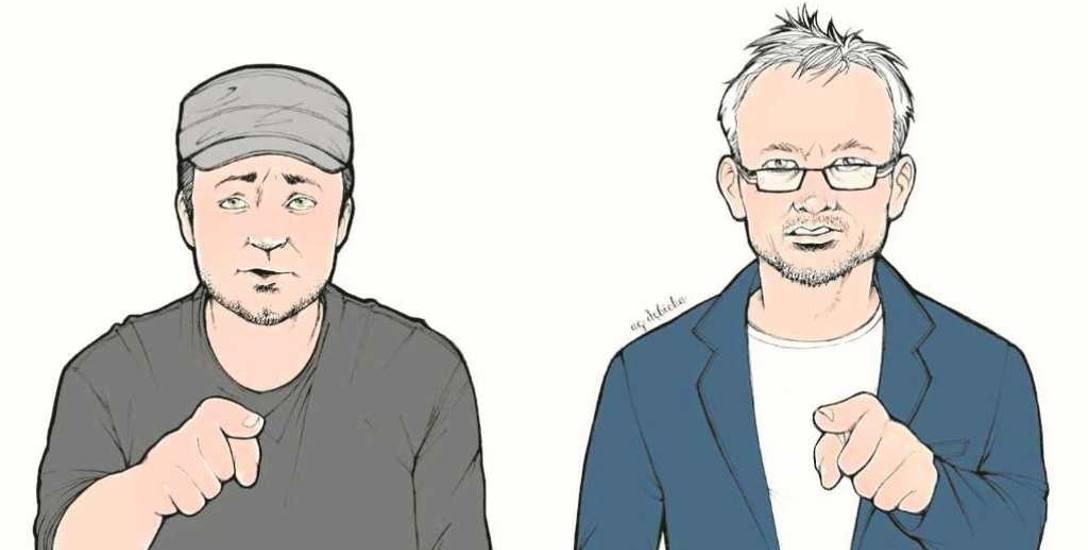 Grafika Agaty Dębickiej: Czesław Mozil i Michał Zabłocki