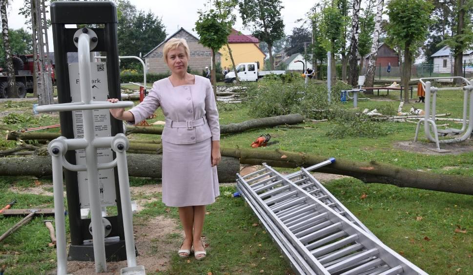 Film do artykułu:  Wycinka drzew przed szkołą w Dziebałtowie. Uszkodziła je czerwcowa burza
