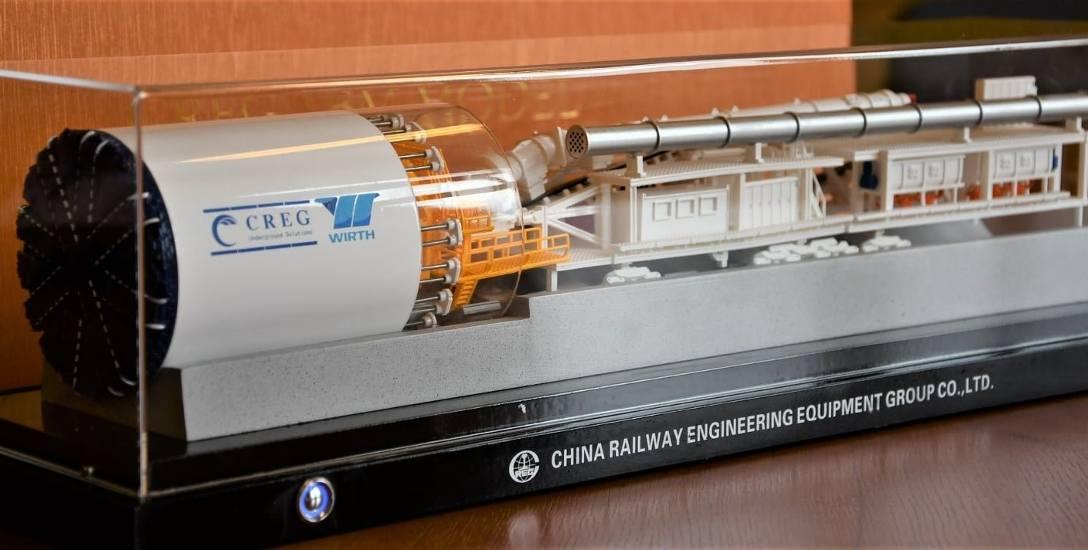 Tak wygląda makieta przedstawiająca maszynę, która będzie drążyła tunel w Świnoujściu