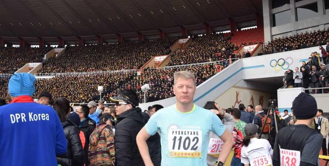 Profesor Zygmunt Waśkowski może być dumny, że ukończył bieg maratoński w Pjongjangu