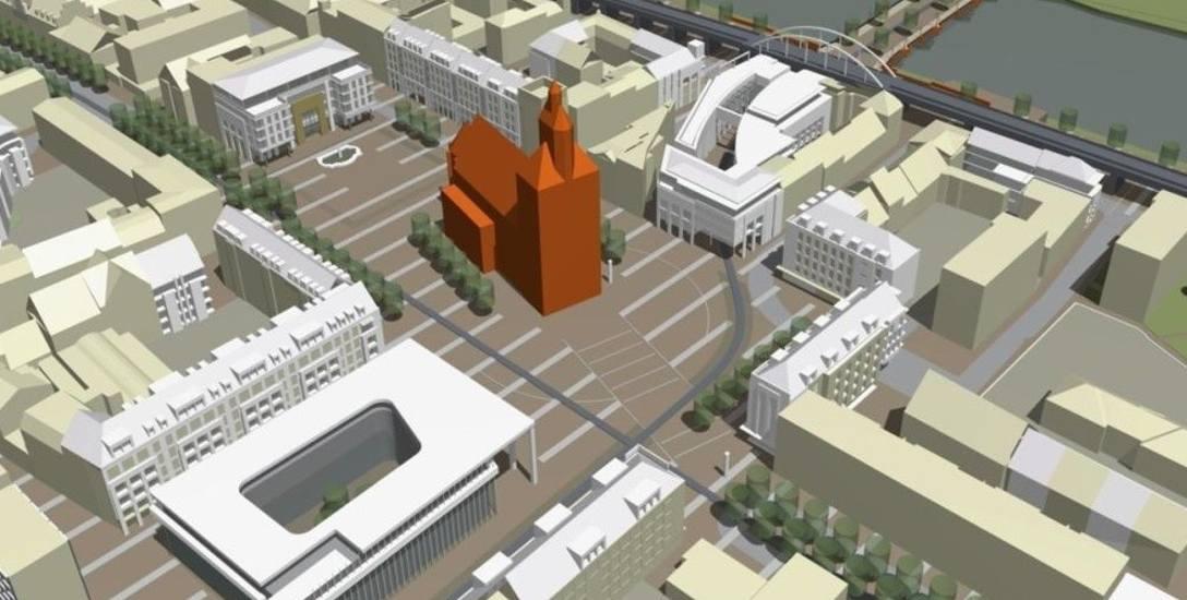 Tak prezentowało się centrum Gorzowa w zwycięskiej pracy urbanistyczno - architektonicznej