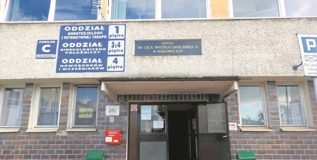 Szpital Powiatowy im. Jana Pawła II w Wadowicach. Mieszkańcy Andrychowa od 1 października będą musieli przyjeżdżać w święta i w nocy po pomoc lekarską