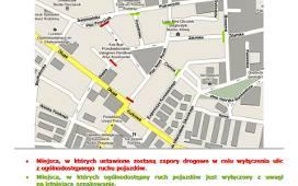 Plan zamknięcia ulic podczas Bożego Ciała w Łowiczu