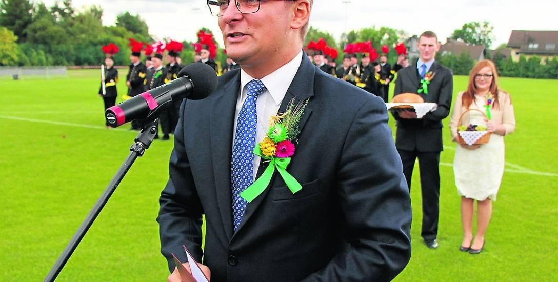 Marcin Krupa rządzi Katowicami od 2014 r. Na zdjęciu: podczas Katowickich Dożynek w 2015 r.