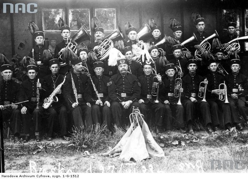 """Orkiestra górnicza z kopalni """"Kazimierz"""" koło Strzemieszyc, okres międzywojenny"""