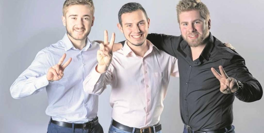 Od lewej: Ivan, Mateusz i Dawid Kuba