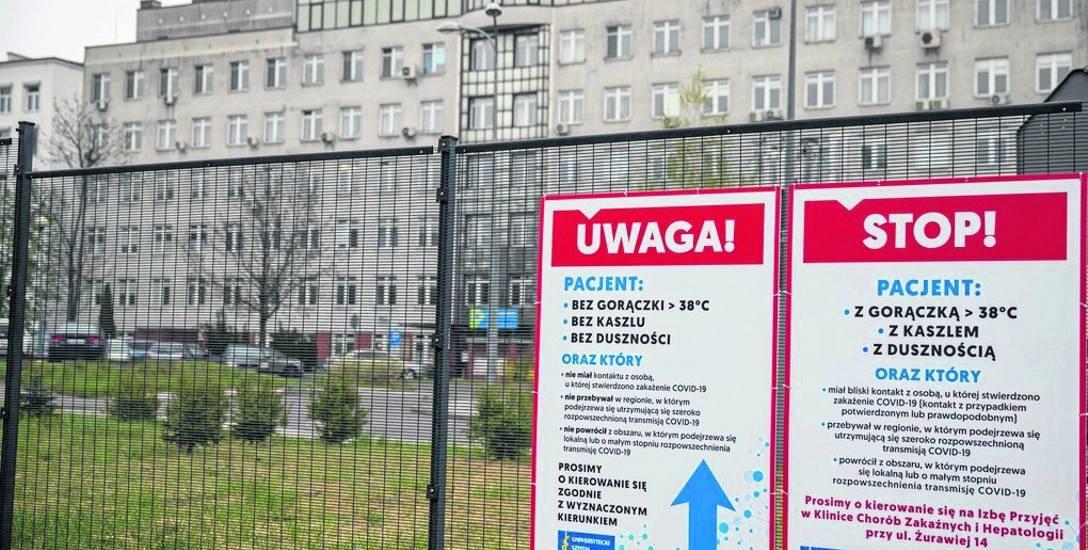 Uniwersytecki Szpital Kliniczny w Białymstoku  17 marca wstrzymał planowe przyjęcia pacjentów na leczenie i zabiegi. Świadczenia te wróciły w poniedziałek