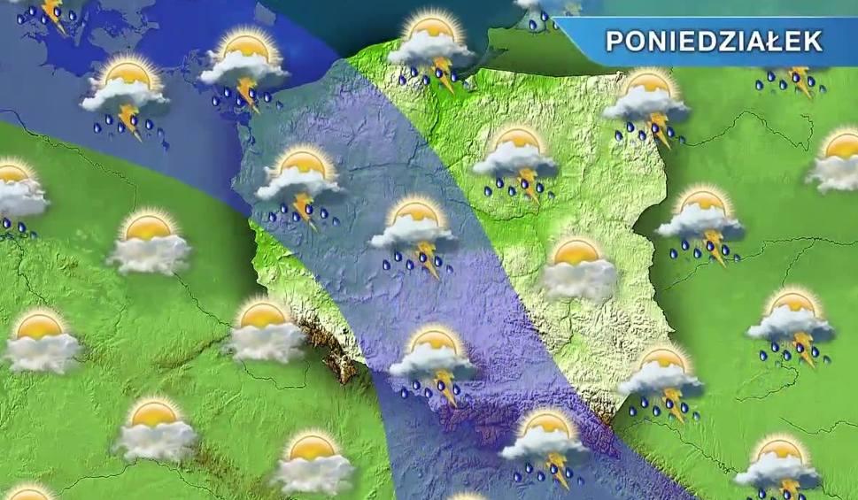 Film do artykułu: Pogoda w Opolu i na Opolszczyźnie. Poniedziałek burzowy i deszczowy