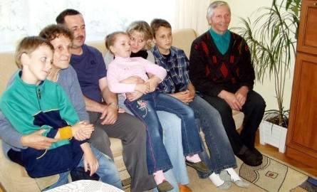 Diana z rodzicami, dziadkami i kuzynami