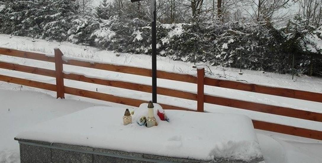 Ten kamienny pomnik powstał nielegalnie bez zgody właściciela cmentarza, na terenie objętym ochroną konserwatorską.