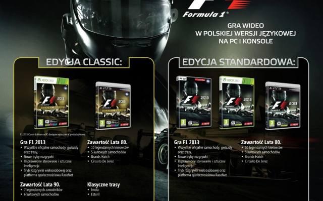 F1 2013: Pełna polska wersja językowa i ceny