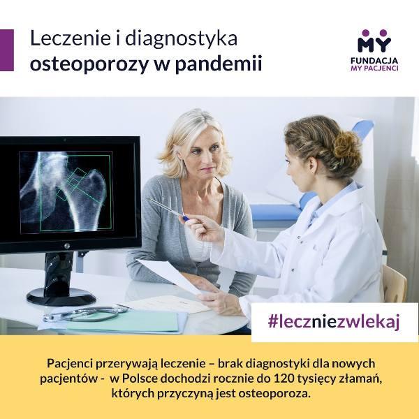 Choroby przewlekłe nie czekają na koniec pandemii – osteoporoza.