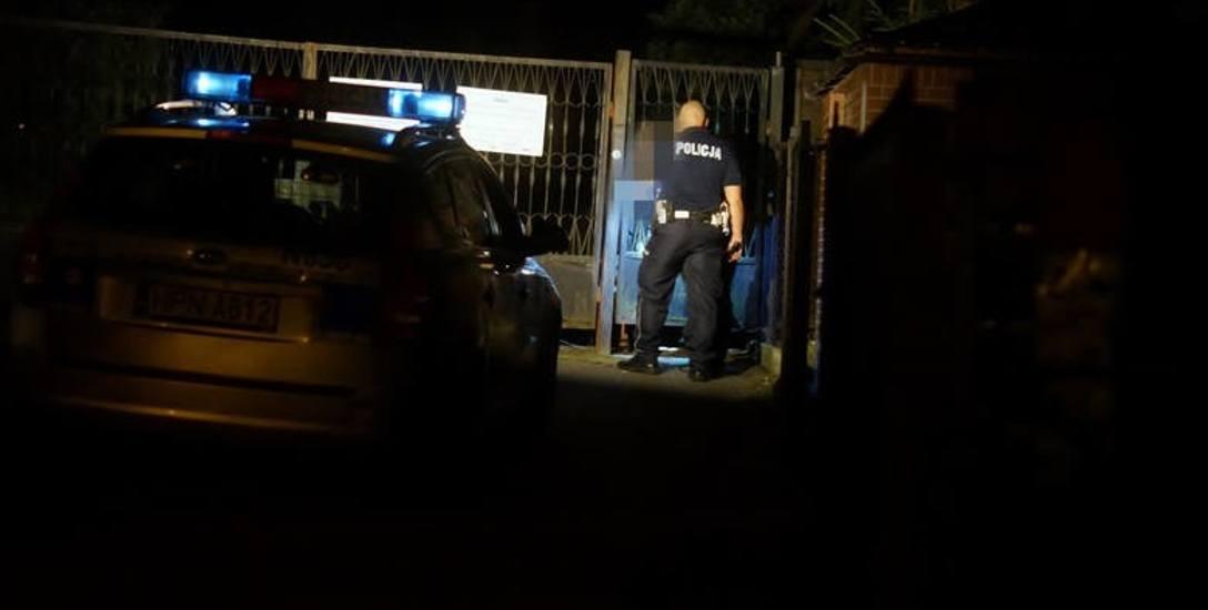 Uwięziona za cmentarną bramą wołała o pomoc