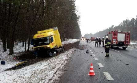 Śmiertelny wypadek na DK3 przed Przybiernowem [ZDJĘCIA]