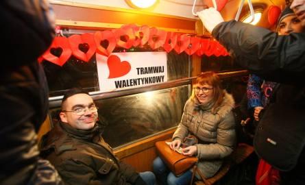 Walentynkowy tramwaj miłości w Łodzi
