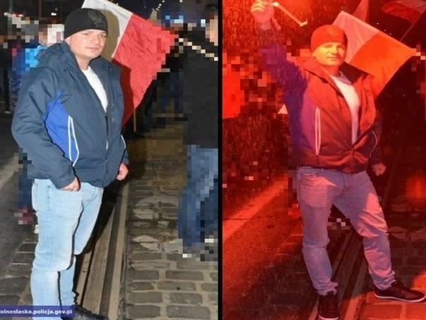 Policja: To on rzucał w ludzi na marszu. 5000 zł nagrody